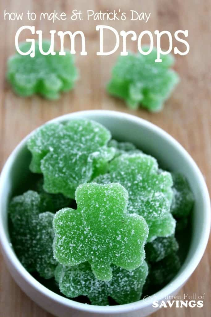 Homemade Gum Drops - St. Patrick's Day Treat