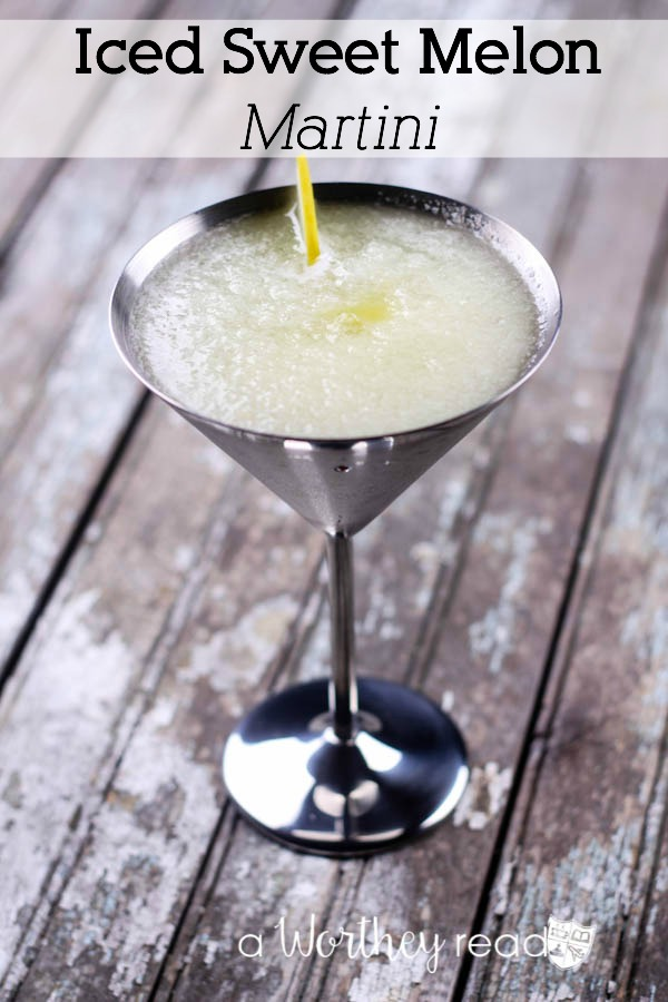 Iced Sweet Melon Martini