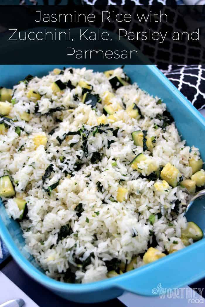 Rice with Zucchini, Kale, Parsley and Parmesan