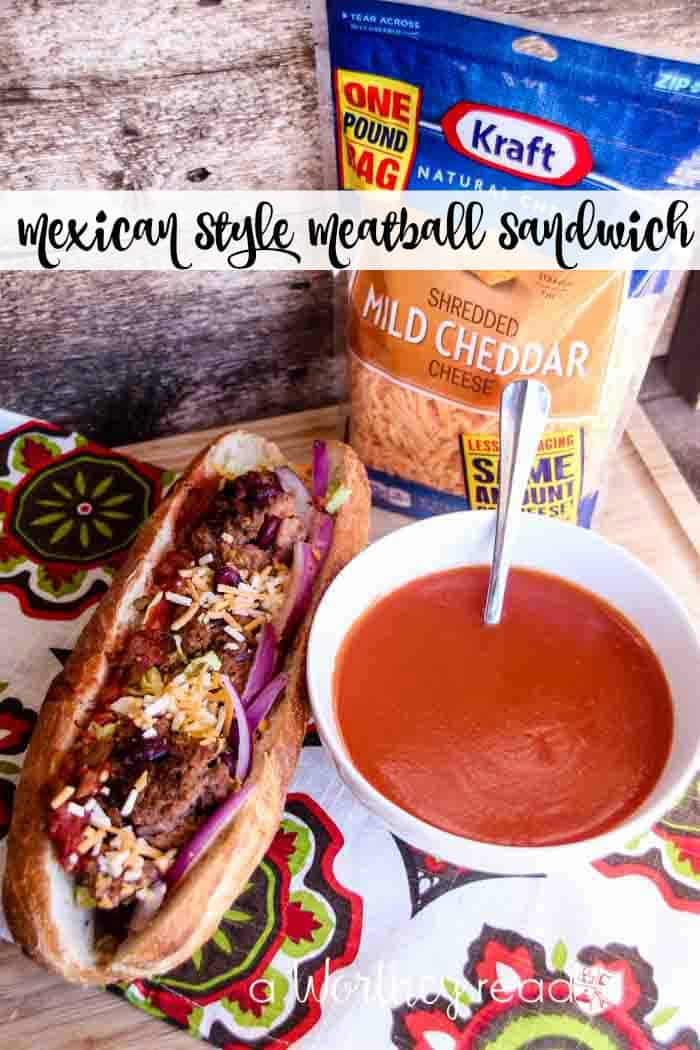 Mexican Style Meatball Sandwich
