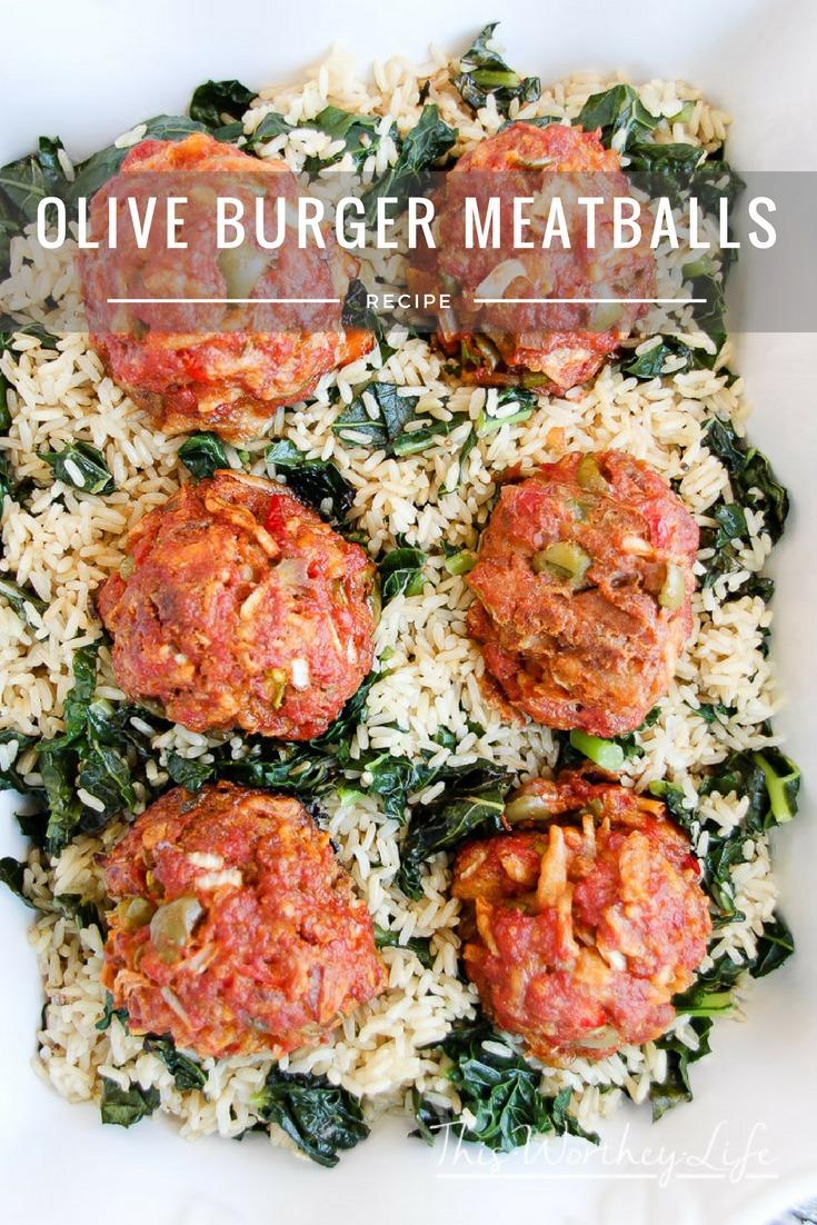 Olive Burger Meatballs Recipe
