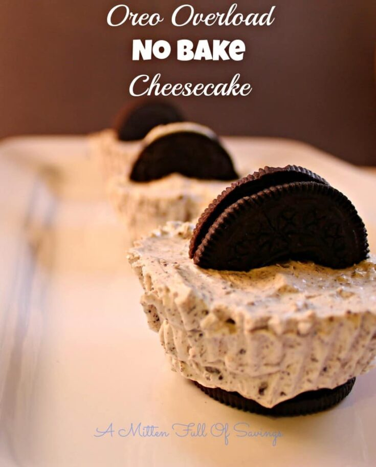Oreo Overload No Bake Cheesecake