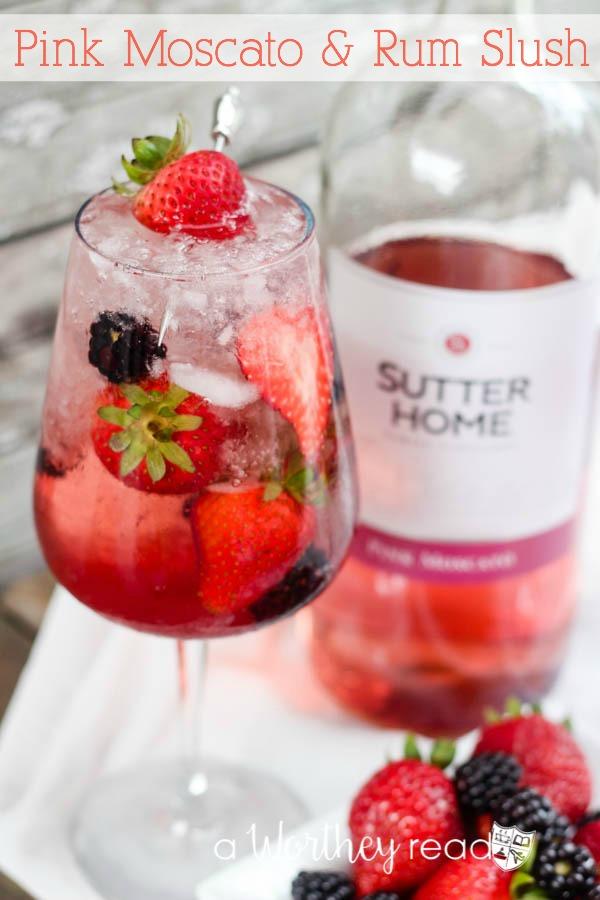 Pink Moscato & Rum Slush