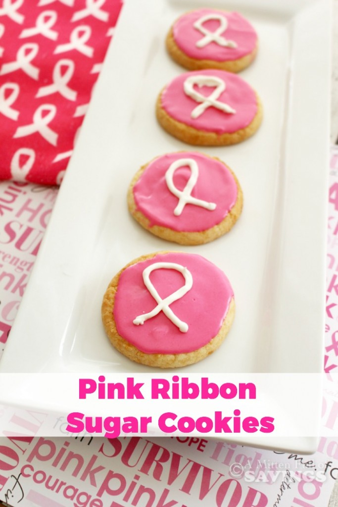Pink Ribbon Sugar Cookies