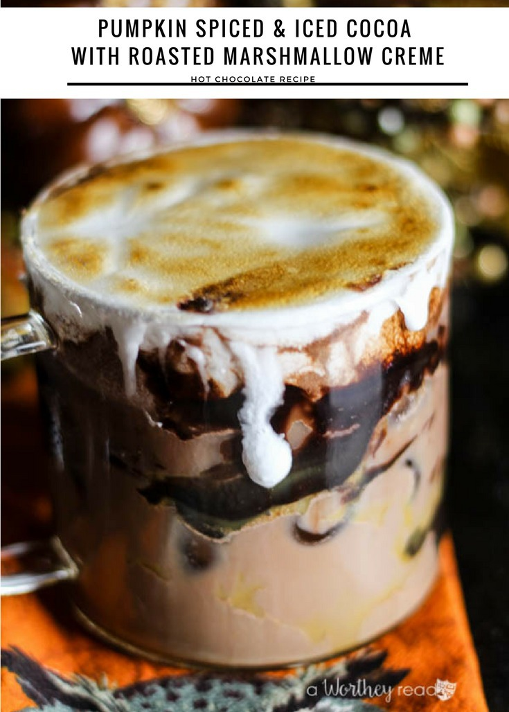 Pumpkin Spiced & Iced Cocoa with Roasted Marshmallow Creme