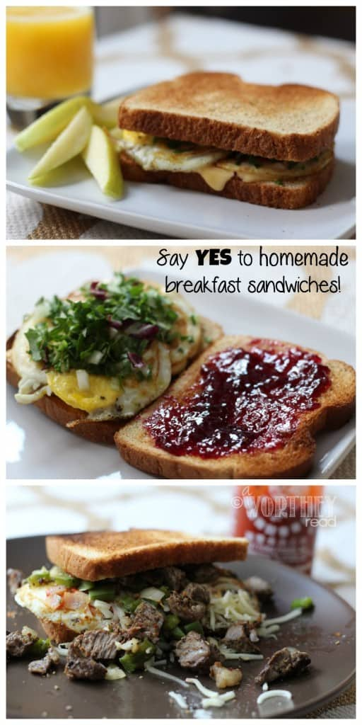 Say Yes To Homemade Breakfast Sandwiches!