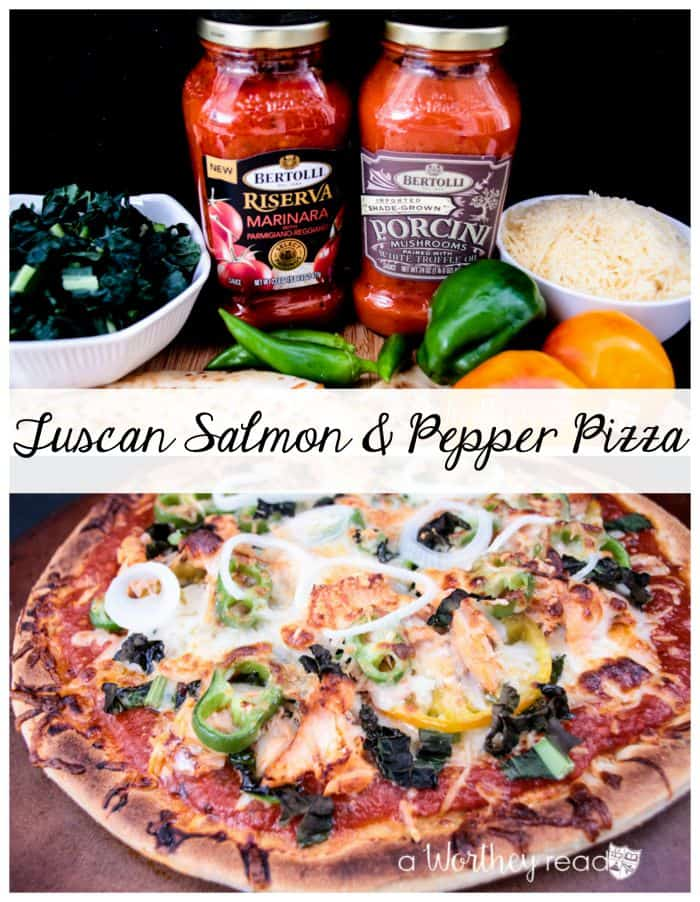 Tuscan Salmon & Pepper Pizza