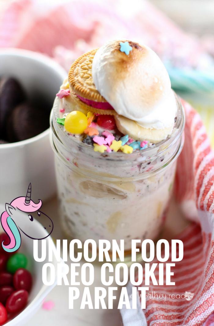 Oreo Recipes- Unicorn Food Oreo Cookie Parfait