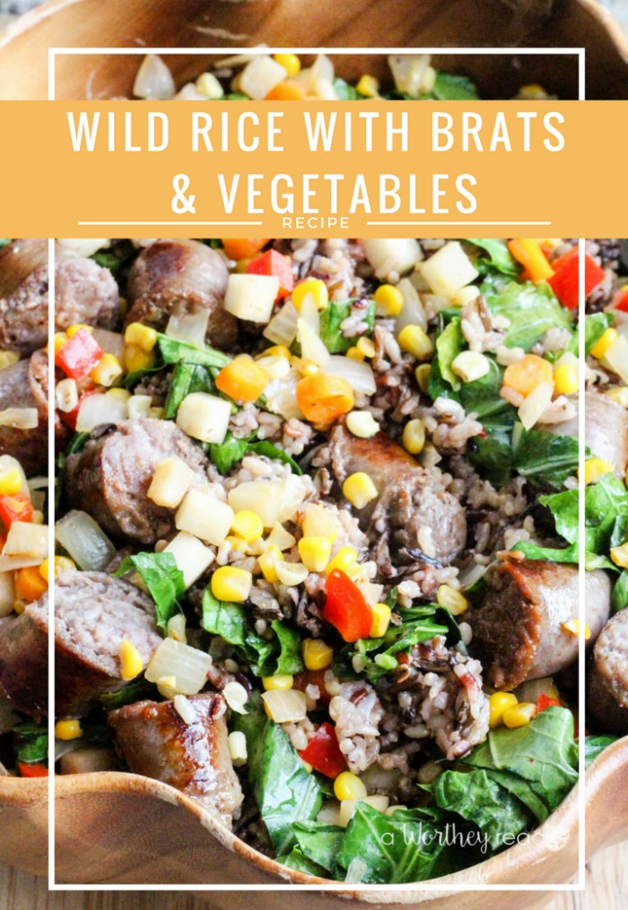Wild Rice with Brats & Vegetables