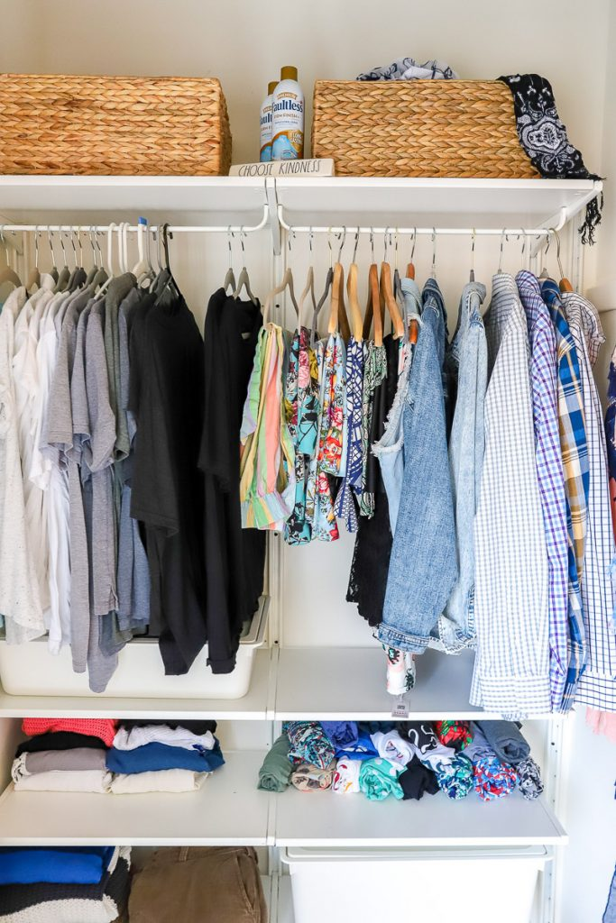 Tips on purging a small closet