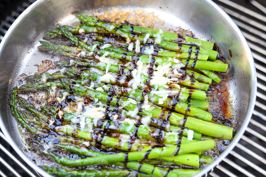 Grilled Asparagus with Balsamic Parmesan
