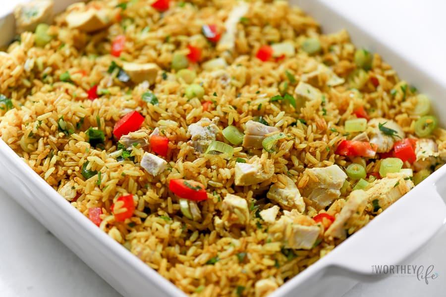 Turmeric Jasmine Rice + Roasted Chicken