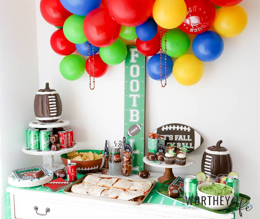 Football Party Idea + Football party menu