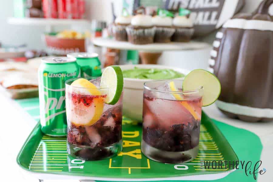 Game Day Cocktail Idea: Blueberry Lemon Lime Bourbon Cocktail