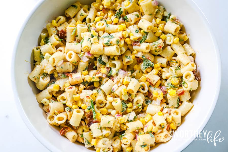 Take your pasta salad game to the next level with our Mexican Street Corn Pasta Salad