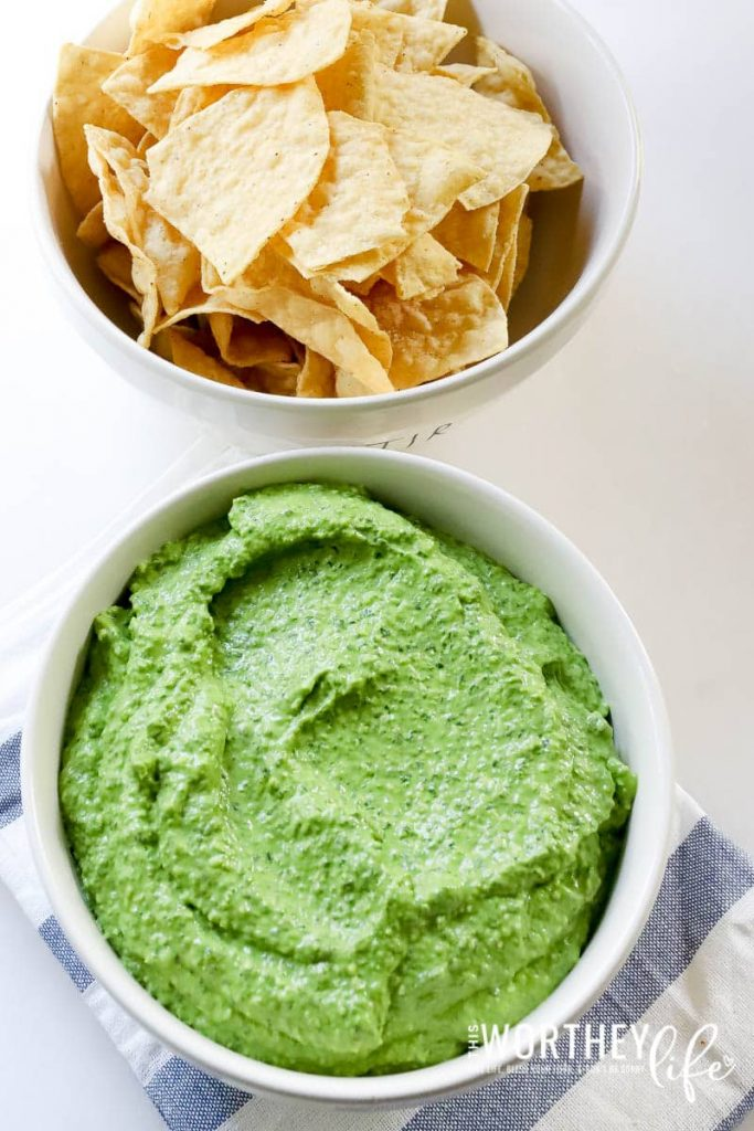 Spinach and avocado dip idea for a party