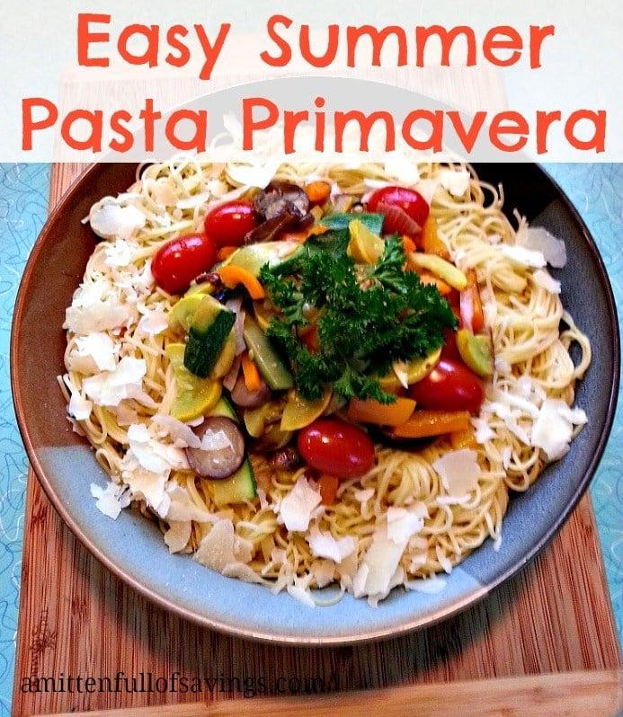 Easy Summer Pasta Primavera #recipe