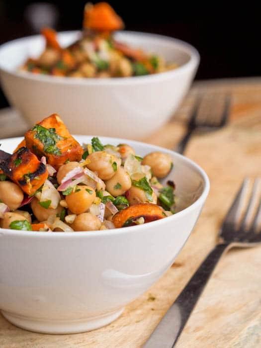 Sweet Potato Chickpea Salad {Gluten-Free, Vegan}