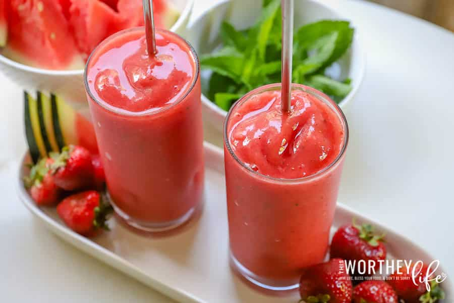 Our Copycat Watermelon Mojito Smoothie just may be better than the original at Tropical Smoothie