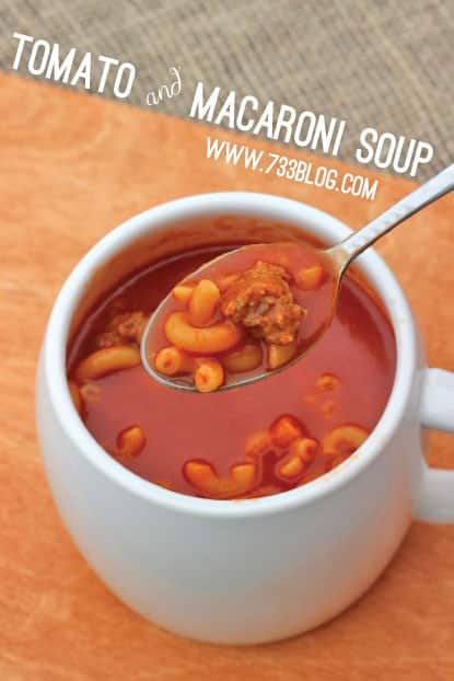Tomato and Macaroni Soup Recipe - Inspiration Made Simple