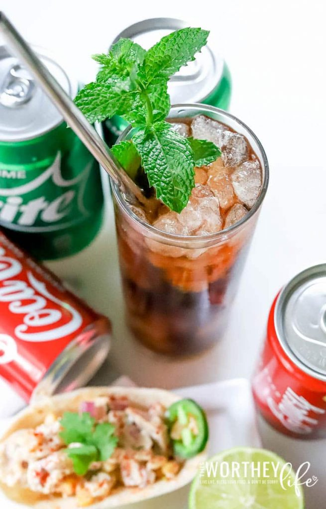 Game Day Drink Idea: Amaretto & Coke Mocktail