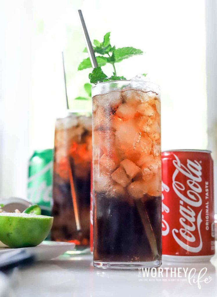 Game Day Drink Idea: Amaretto & Coke Mocktail