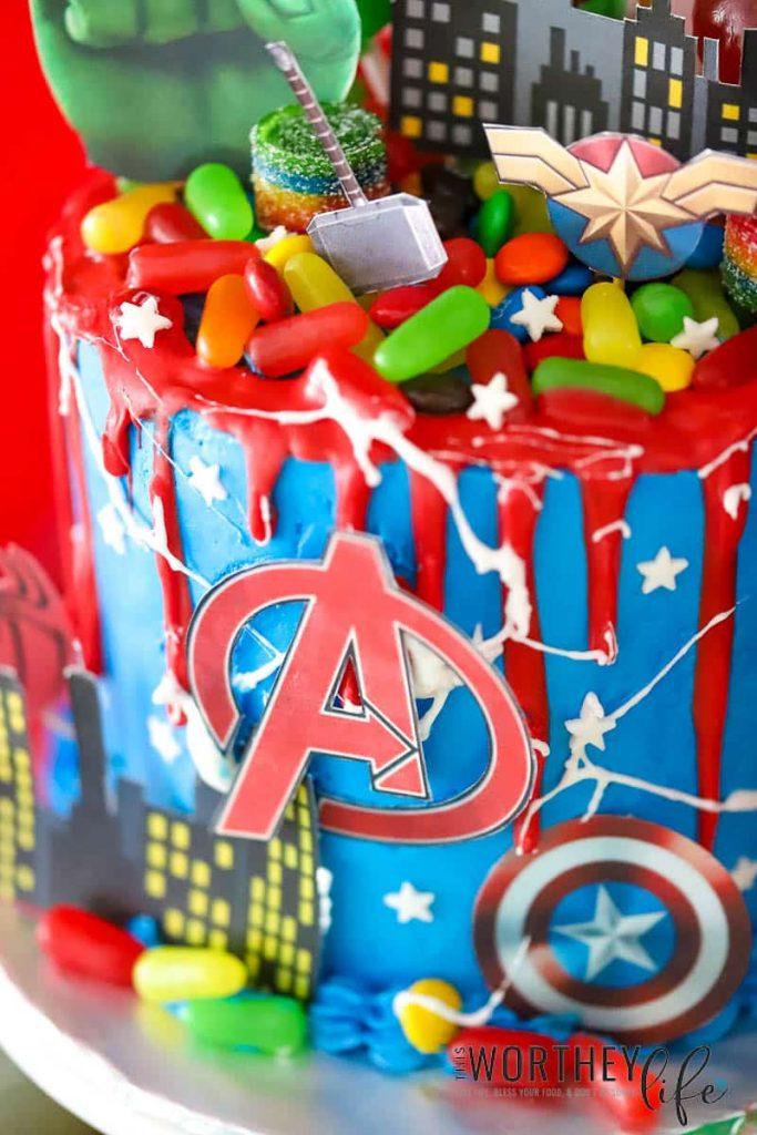 Avengers Cake Ideas