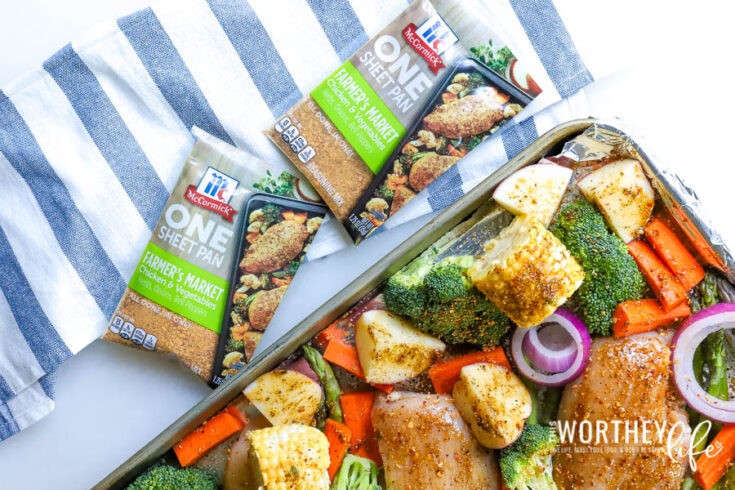 Chicken + Vegetables Sheet Pan Dinner Idea