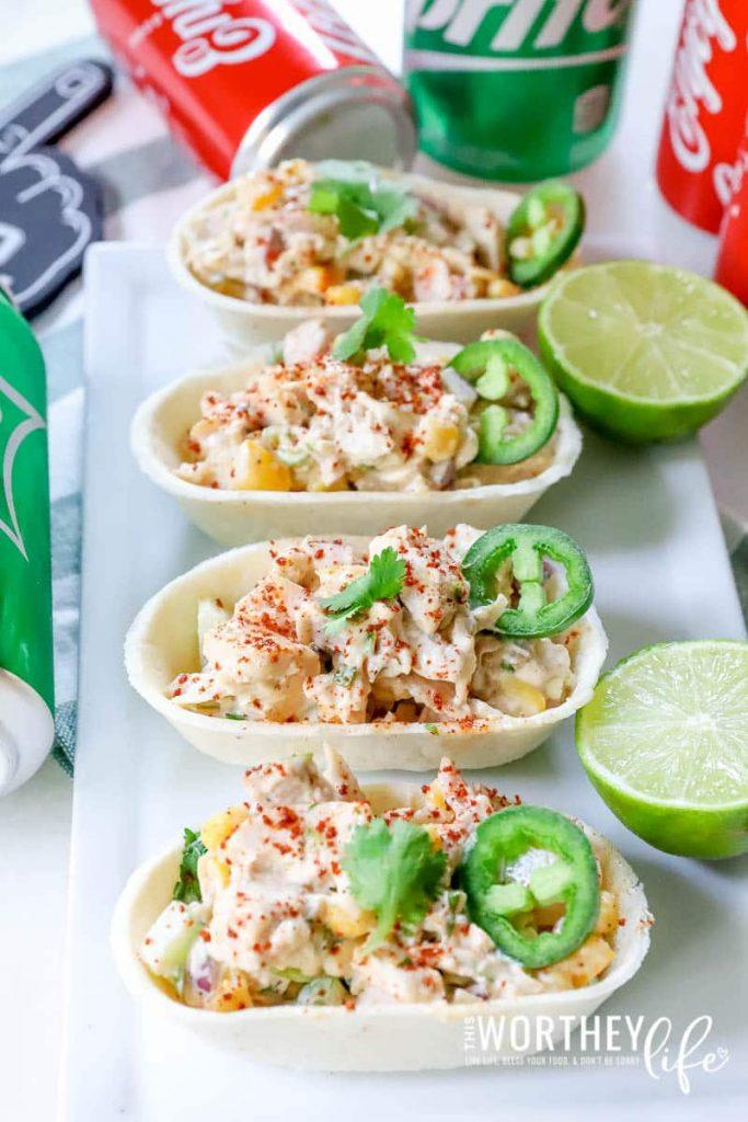 Game Day Appetizer Idea: Citrus-Lime Chicken + Corn Salad