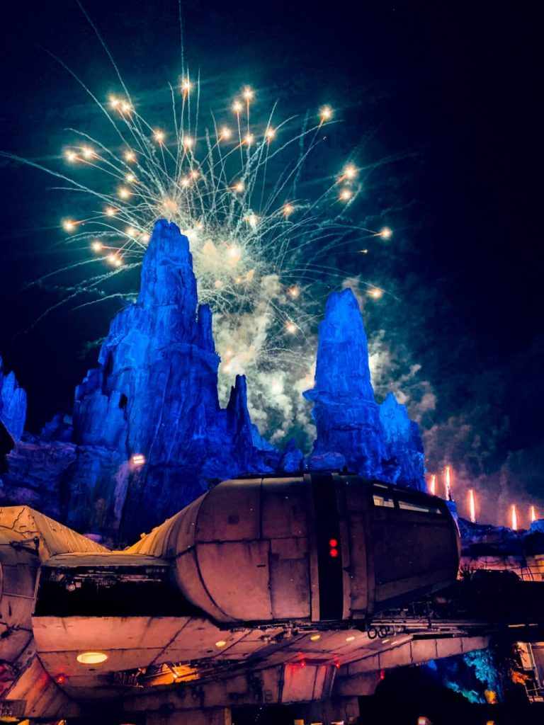 Watch the fireworks from Galaxy's Edge