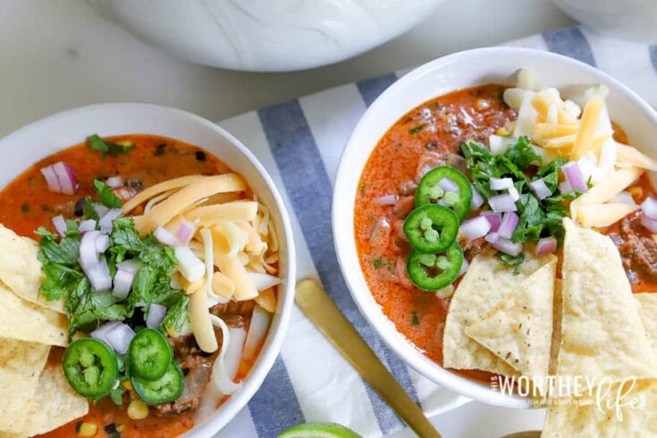 Loaded Taco Soup Made In The Instant Pot