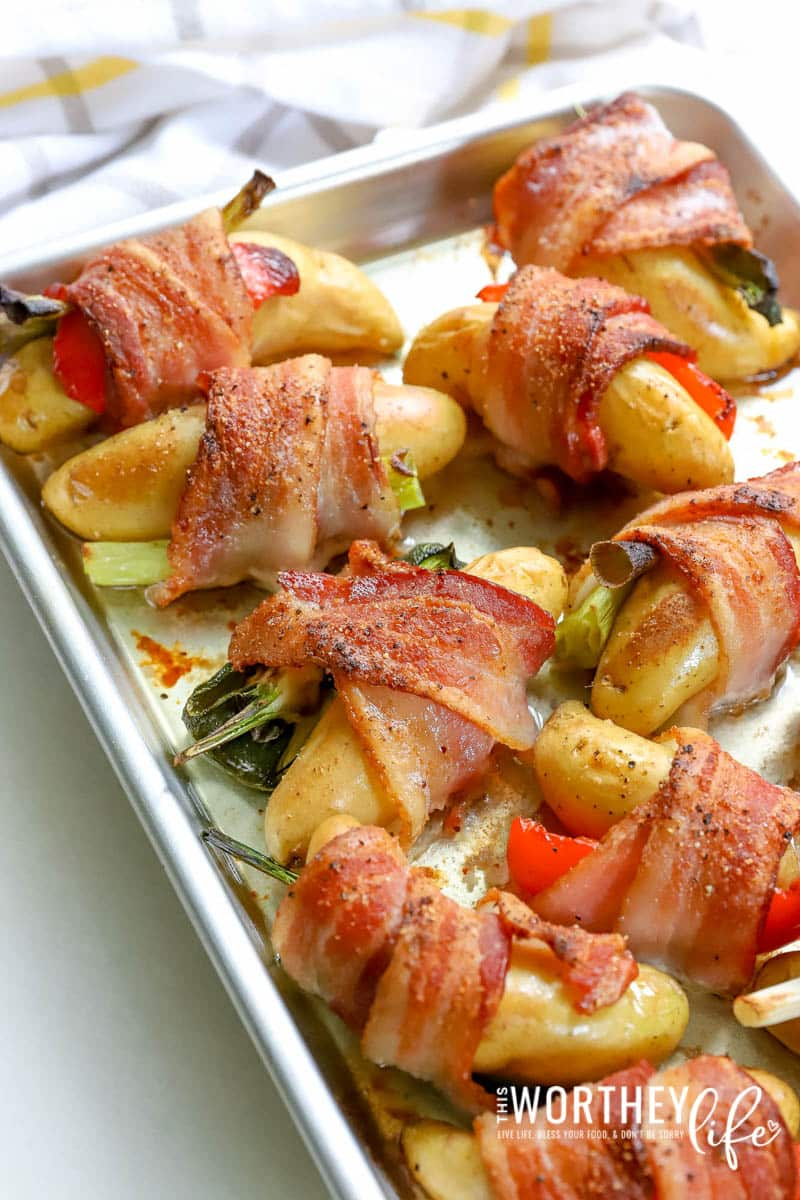 Easy appetizer idea for game day with bacon