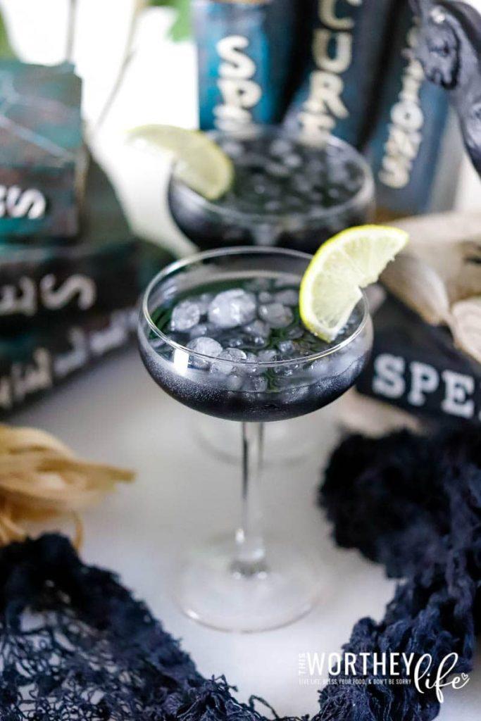black halloween cocktail
