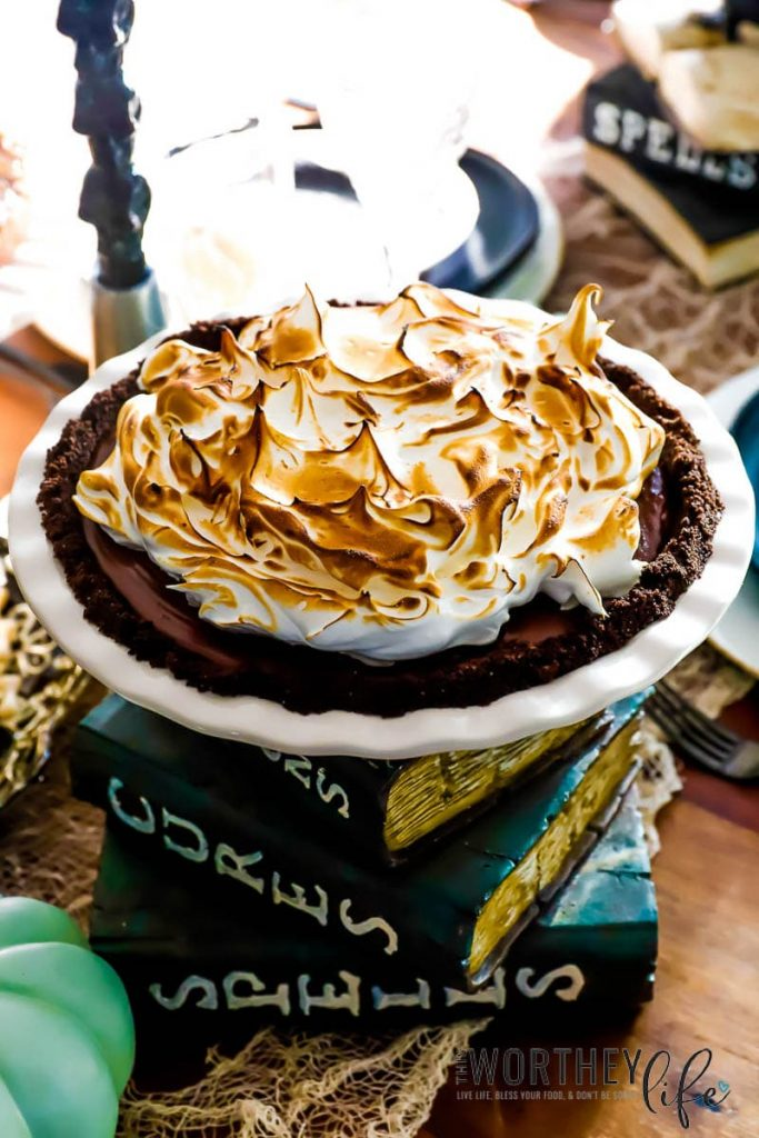 How to make No-Bake Chocolate Cream Pie + Toasted Meringue