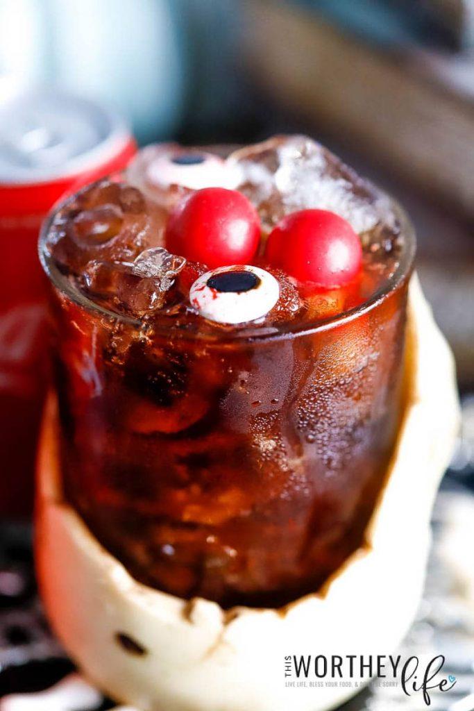 Halloween Cocktail Idea | Skeleton Fireball Whiskey