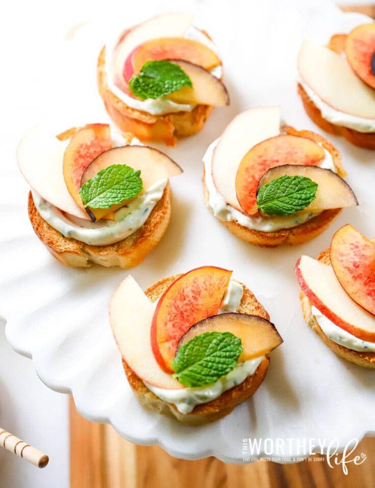 Herb Cream Cheese, Fall Fruit & Honey Crostini Recipe
