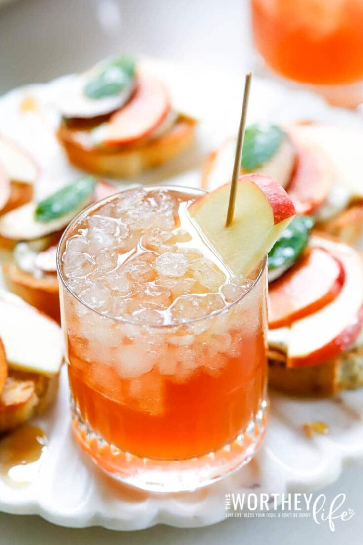 Sparkling Apple Cider Ginger Rosé