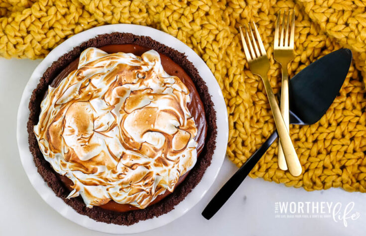 No Bake Chocolate Pie With Toasted Meringue