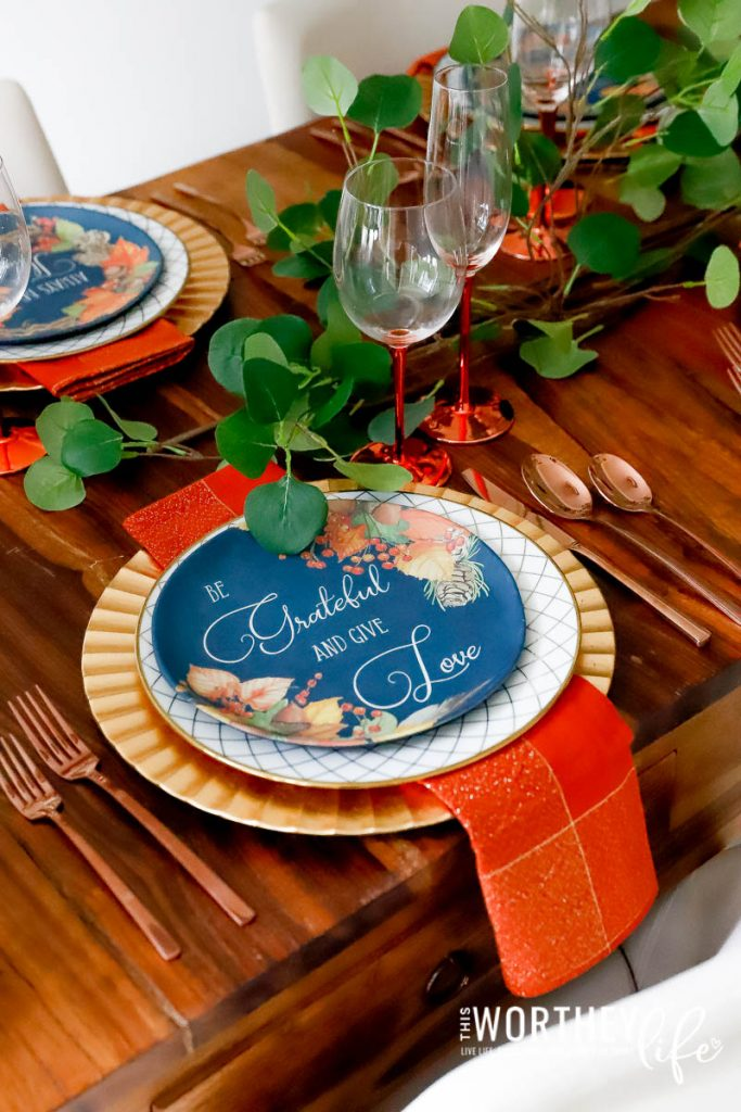 Shades of Oranges for a Fall Tablescape