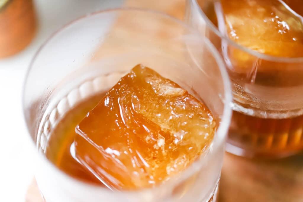 Praline Coffee Old Fashioned Using Praline Liqueur