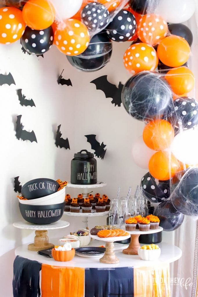 Orange + Black Party idea for Halloween