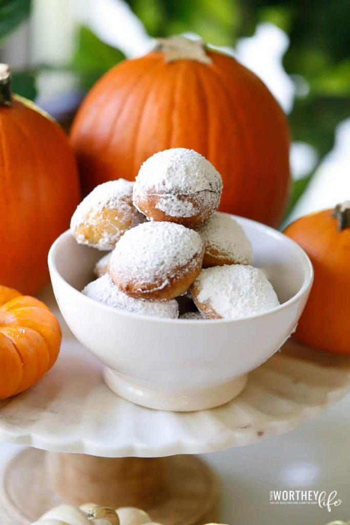 Pumpkin Spice Beignets