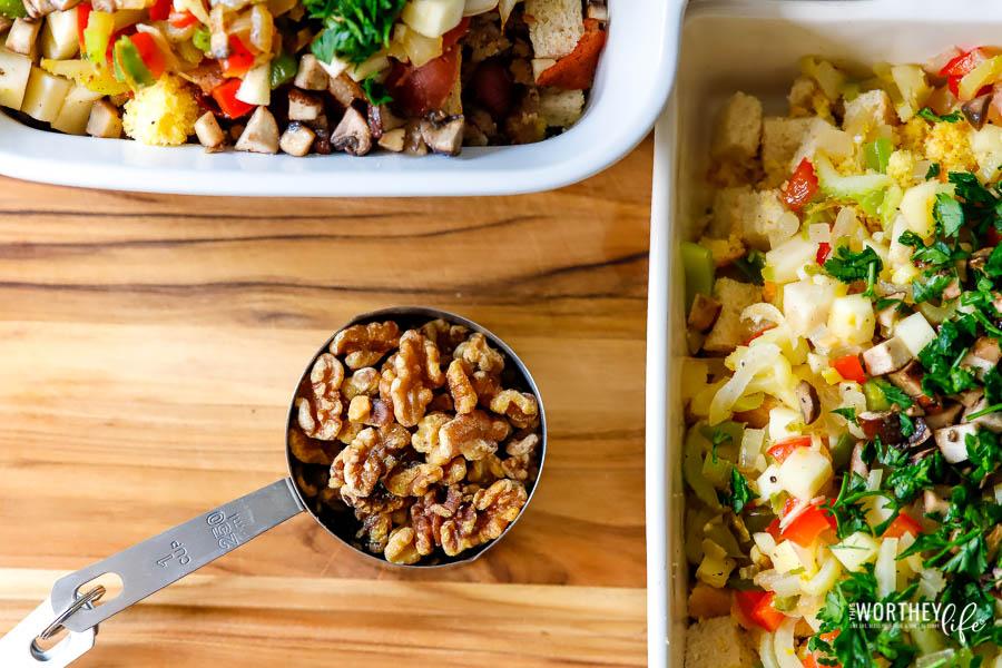 Ingredients needed for cornbread dressing recipe