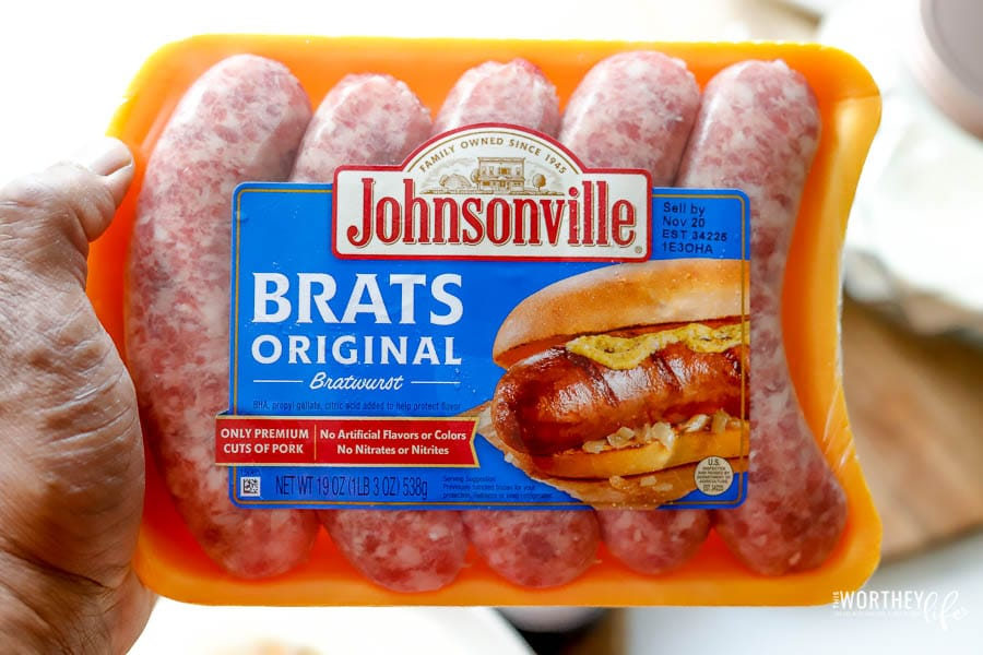 The best brats for dinner.