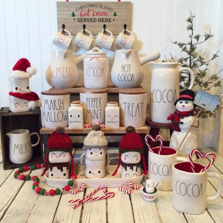 """Rae Dunn Collecting on Instagram: """"Today is National Hot Cocoa Day...I don't know about you, but everyday is cocoa day for me ❤️! #raedunncocoa #raedunnfinds #raedunn…"""""""