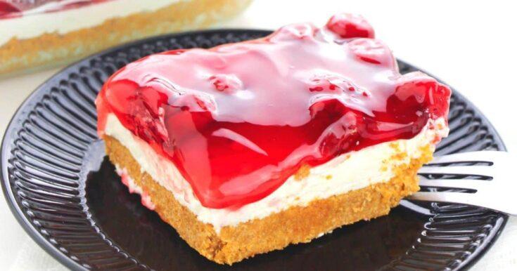 No Bake Cherry Cheesecake Layered Dessert