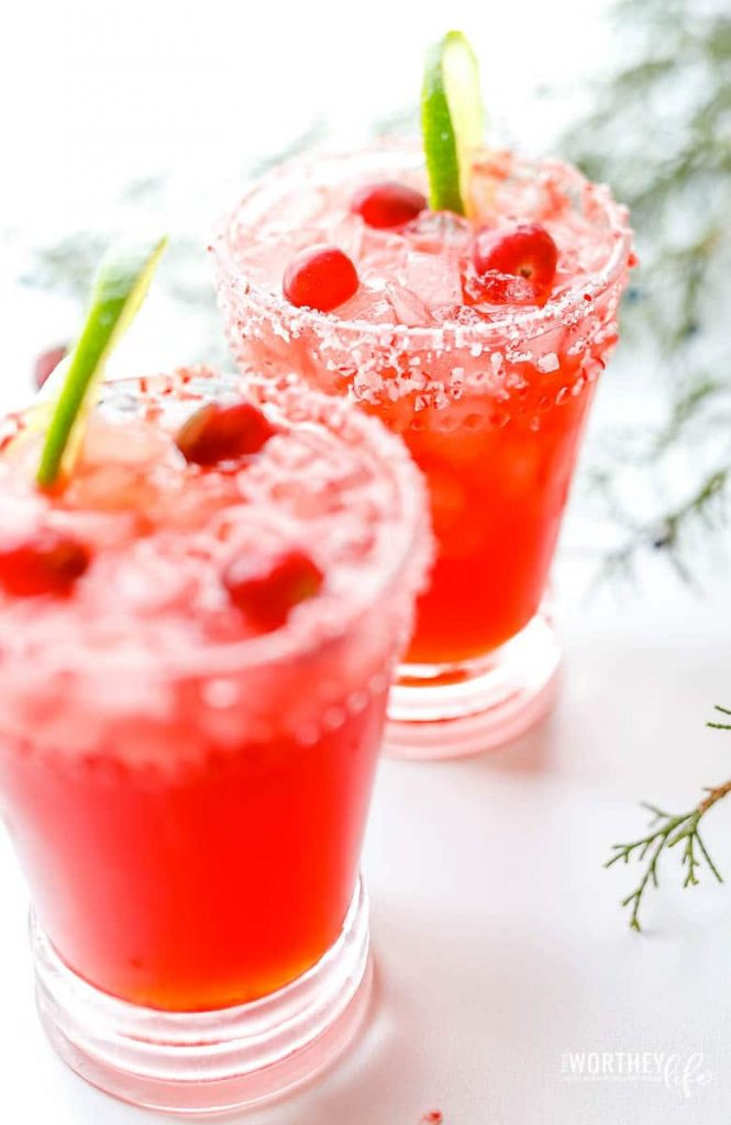 the best Christmas margarita