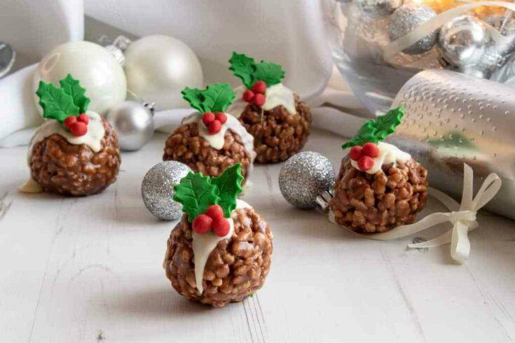 Rice Krispie Christmas Puddings