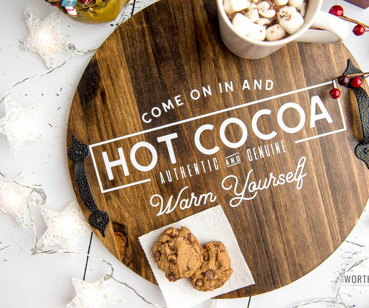 DIY Cricut Hot Cocoa Tray