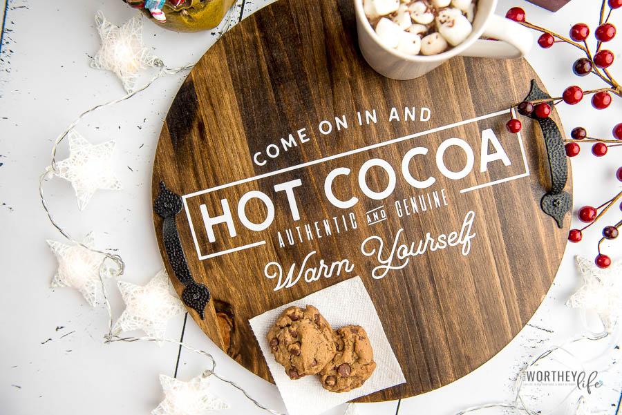 DIY Cricut Hot Cocoa Tray